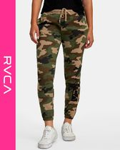 RVCA Camouflage Casual Style Sweat Sweatpants