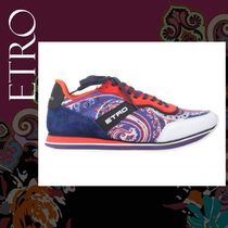 ETRO Paisley Suede Blended Fabrics Street Style Leather Sneakers