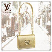 Louis Vuitton TWIST 3WAY Chain Leather Party Style Shoulder Bags