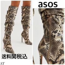ASOS Faux Fur Python Over-the-Knee Boots