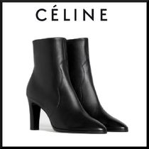 CELINE Plain Leather Elegant Style High Heel Boots