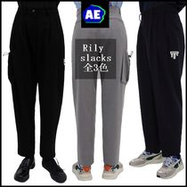 ADERERROR Slax Pants Unisex Nylon Plain Oversized Slacks Pants
