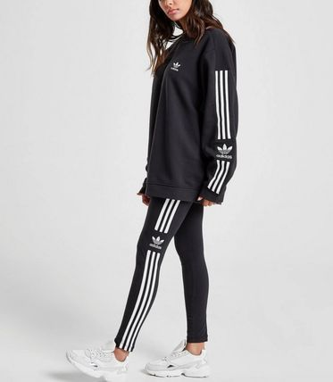 adidas Crew Neck Unisex Sweat Street Style Long Sleeves Cotton