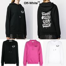 Off-White Heart Sweat Street Style Long Sleeves Cotton