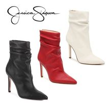 Jessica Simpson Faux Fur Plain Pin Heels Elegant Style Ankle & Booties Boots