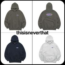 thisisneverthat Unisex Street Style Long Sleeves Oversized Hoodies