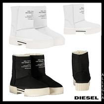 DIESEL Platform Rubber Sole Suede Ankle & Booties Boots