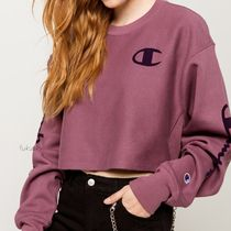 CHAMPION Short Sweat Street Style Long Sleeves Cropped