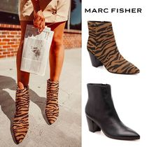 MARC FISHER Suede Other Animal Patterns Leather Block Heels