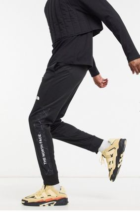 THE NORTH FACE Tapered Pants Unisex Street Style Plain Logo Bottoms