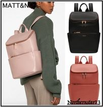 MATT&NAT Casual Style Faux Fur Plain Backpacks