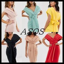 ASOS Tight V-Neck Plain Medium Party Style Dresses