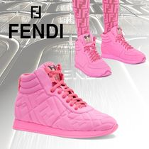 FENDI Lace-up Collaboration Elegant Style Low-Top Sneakers