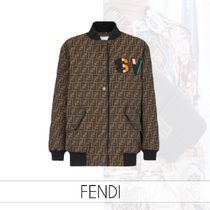FENDI Monogram Street Style Medium MA-1 Varsity Jackets