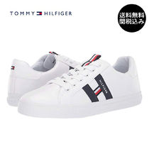 Tommy Hilfiger Round Toe Plain Low-Top Sneakers