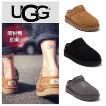 UGG Australia CLASSIC SLIPPER Unisex Suede Blended Fabrics Plain Slip-On Shoes