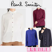 Paul Smith Casual Style Long Sleeves Plain Elegant Style
