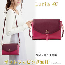 4℃ Casual Style Plain Leather Elegant Style Bold Shoulder Bags