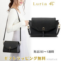 4℃ Casual Style Plain Leather Elegant Style Shoulder Bags