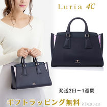 4℃ Casual Style 2WAY Plain Leather Elegant Style Totes