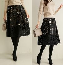Flower Patterns Lace Sheer Skirts