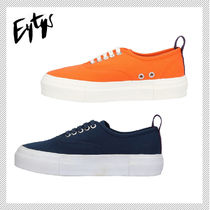 Eytys Round Toe Rubber Sole Casual Style Plain Low-Top Sneakers