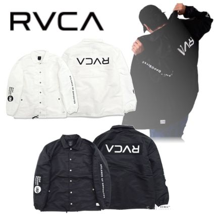 RVCA Nylon Coach Jackets Logo Coach Jackets