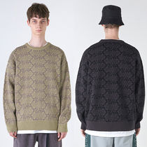 CRITIC Cable Knit Casual Style Unisex Street Style U-Neck
