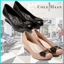 Cole Haan Round Toe Plain Leather Office Style Elegant Style