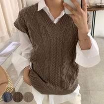 Casual Style Wool Vests