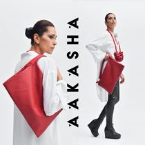 Aakasha Casual Style Plain Leather Handmade Elegant Style Handbags