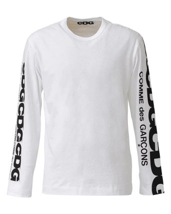 COMME des GARCONS Long Sleeve Crew Neck Unisex Street Style Long Sleeves Plain Cotton 3