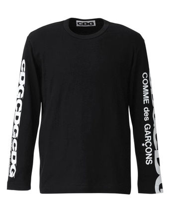 COMME des GARCONS Long Sleeve Crew Neck Unisex Street Style Long Sleeves Plain Cotton 6