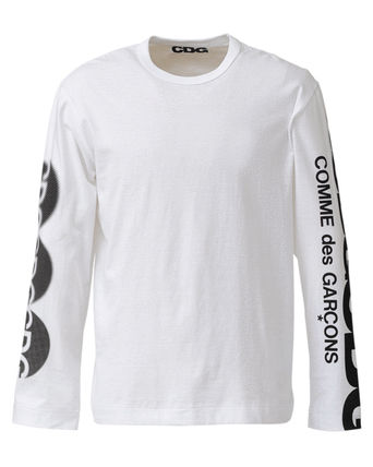 COMME des GARCONS Long Sleeve Crew Neck Unisex Street Style Long Sleeves Plain Cotton 11