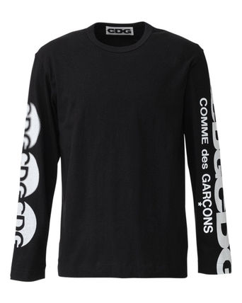 COMME des GARCONS Long Sleeve Crew Neck Unisex Street Style Long Sleeves Plain Cotton 14