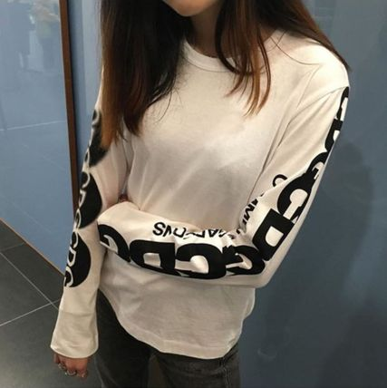 COMME des GARCONS Long Sleeve Crew Neck Unisex Street Style Long Sleeves Plain Cotton 17