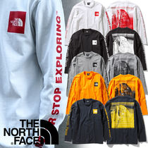 THE NORTH FACE Crew Neck Unisex Long Sleeves Logos on the Sleeves