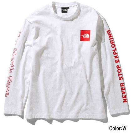 THE NORTH FACE Long Sleeve Crew Neck Unisex Long Sleeves Logos on the Sleeves 2