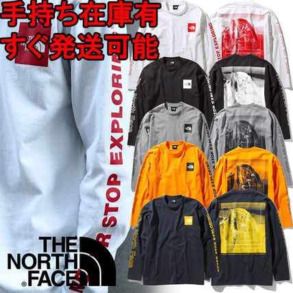 THE NORTH FACE Long Sleeve Crew Neck Unisex Long Sleeves Logos on the Sleeves