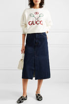 GUCCI Monogram Tweed Bi-color Elegant Style Logo