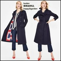 Boden Plain Long Trench Coats