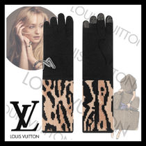 Louis Vuitton Leopard Patterns Wool Smartphone Use Gloves