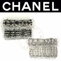 CHANEL ICON Blended Fabrics Street Style Plain Handmade Party Style