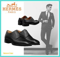 HERMES Straight Tip Leather Oxfords