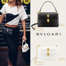 Bvlgari Collaboration 3WAY Chain Plain Elegant Style Shoulder Bags
