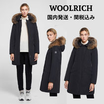 WOOLRICH Casual Style Fur Plain Medium Long Parkas