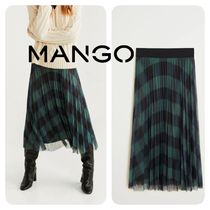 MANGO Flared Skirts Other Check Patterns Medium Elegant Style