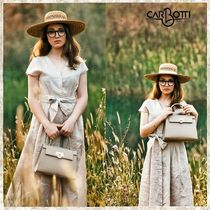 CARBOTTI Casual Style Leather Party Style Elegant Style Handbags