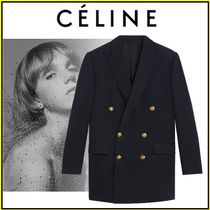 CELINE Casual Style Wool Plain Medium Party Style Office Style