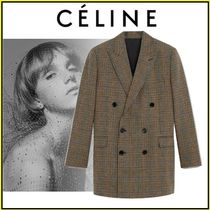 CELINE Other Plaid Patterns Casual Style Wool Party Style